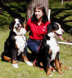 Michelle Larson and dogs